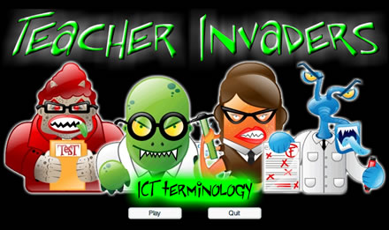teacher invaders game generator free educational flash quiz